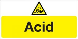 Acid Hazard Safety Sign - Landscape