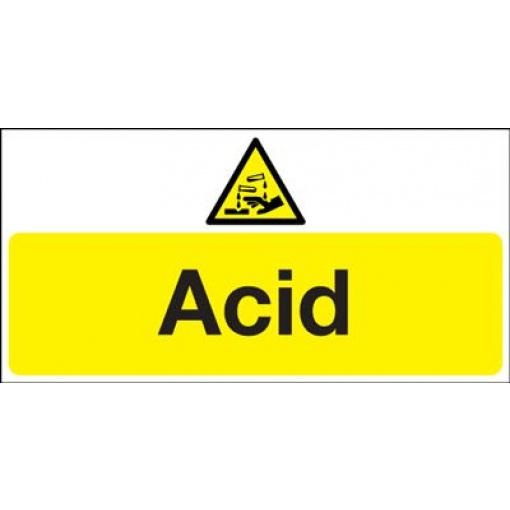 Acid Hazard Safety Sign - Landscape