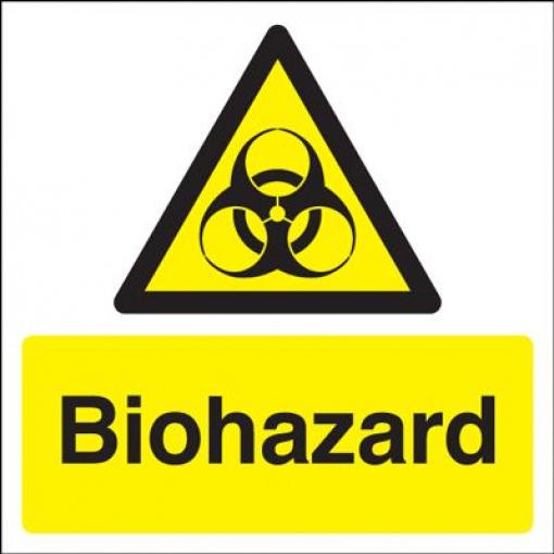 Biohazard Symbol Hazard Safety Sign Square