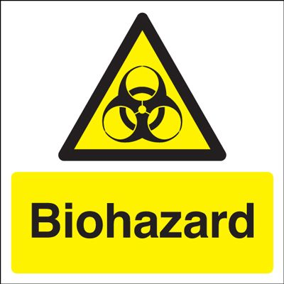 Biohazard Symbol Hazard Safety Sign Square