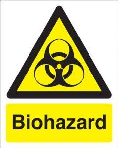 Biohazard Hazard Safety Sign - Portrait