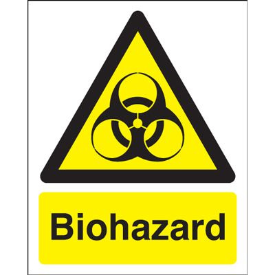 Biohazard Hazard Safety Sign - Portrait