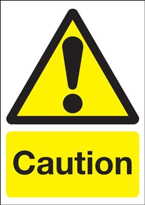 Caution Hazard Safety Sign - Portrait