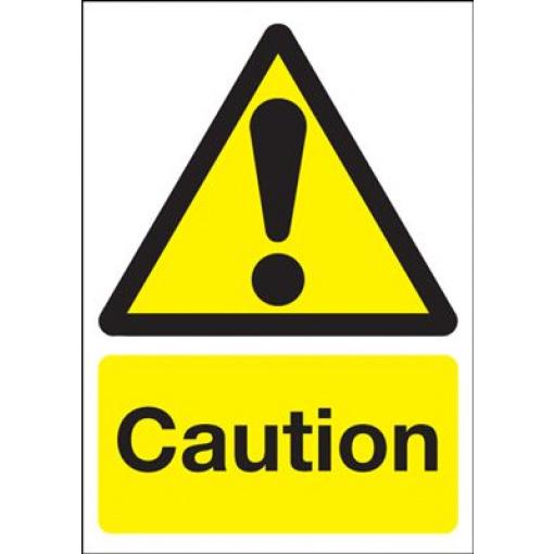 Caution Hazard Safety Sign - Portrait