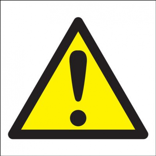 Caution Symbol Only Hazard Safety Sign Square