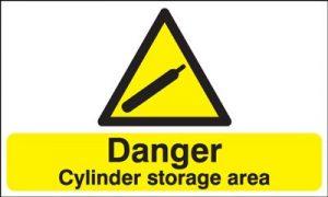 Danger Cylinder Storage Area Safety Sign - Landscape