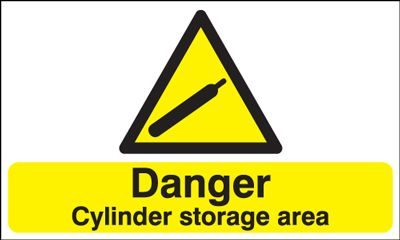 Danger Cylinder Storage Area Safety Sign - Landscape