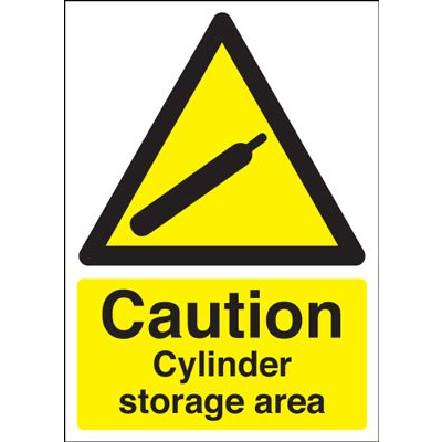 Caution Cylinder Storage Area Sign - Portrait
