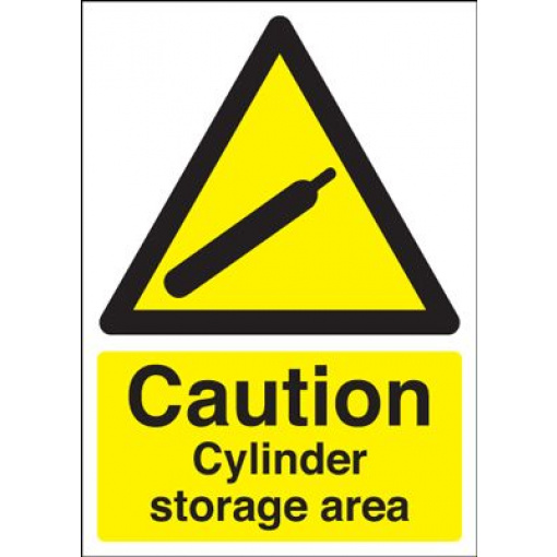 Caution Cylinder Storage Area Sign - Portrait