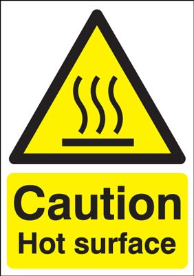 Caution Hot Surface Safety Sign