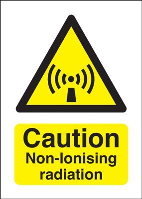 Caution Non-Ionising Radiation Safety Sign - Portrait