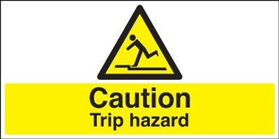 Caution Trip Hazard Safety Sign - Landscape