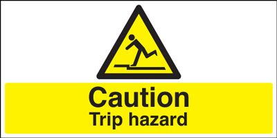 Caution Trip Hazard Safety Sign - Landscape