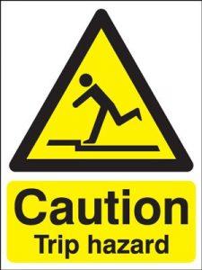 Caution Trip Hazard Safety Sign