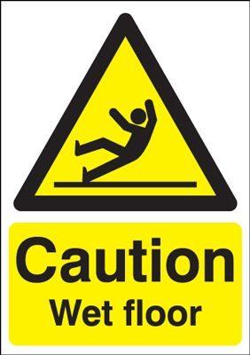 Caution Wet Floor Safety Sign