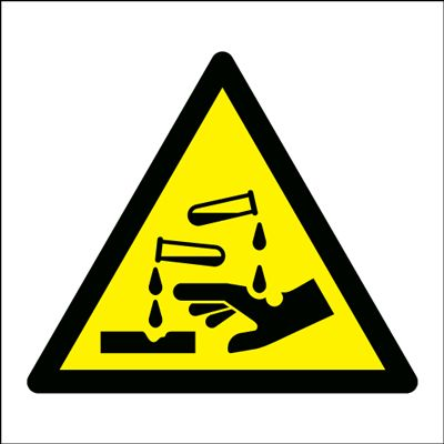 Corrosive (Symbol Only) Sign