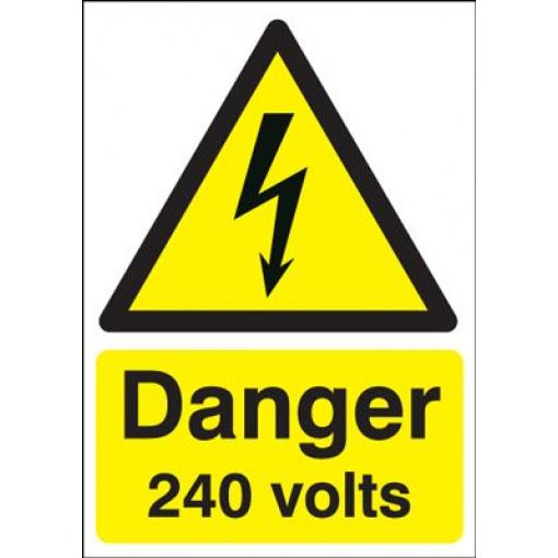 Danger 240 Volts Hazard Safety Sign