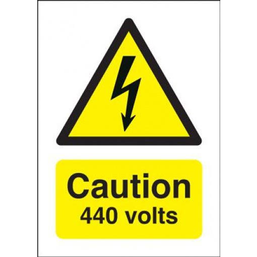 Danger 440 Volts Hazard Safety Sign