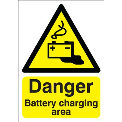 Danger Battery Charging Area Hazard Safety Sign