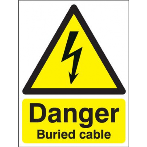 Danger Buried Cable Safety Sign