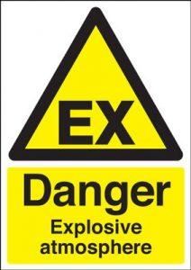 Danger Explosive Atmosphere Safety Sign