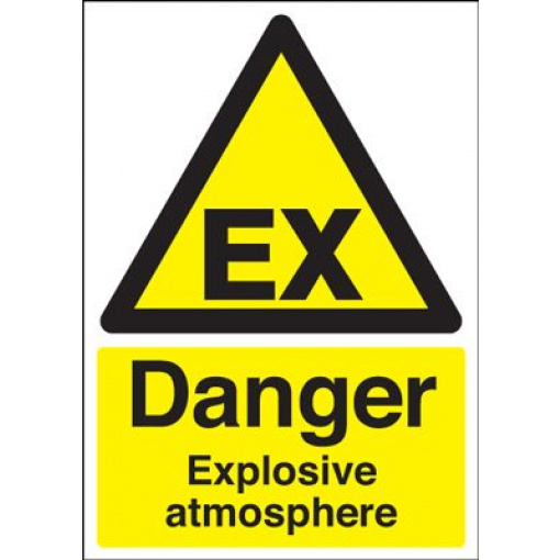 Danger Explosive Atmosphere Safety Sign