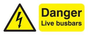 Danger Live Busbars Safety Sign - Landscape
