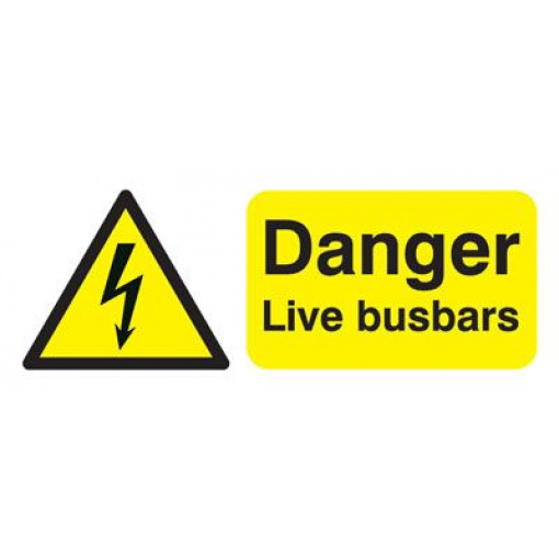 Danger Live Busbars Safety Sign - Landscape