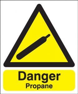 Danger Propane Safety Sign