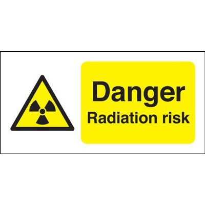 Danger Radiation Risk Safety Sign - Landscape