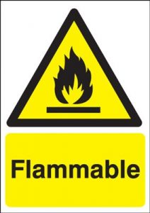 Flammable Hazard Safety Sign - Portrait