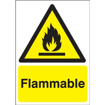Flammable Hazard Safety Sign - Portrait