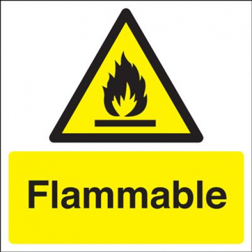 Flammable Hazard Safety Sign