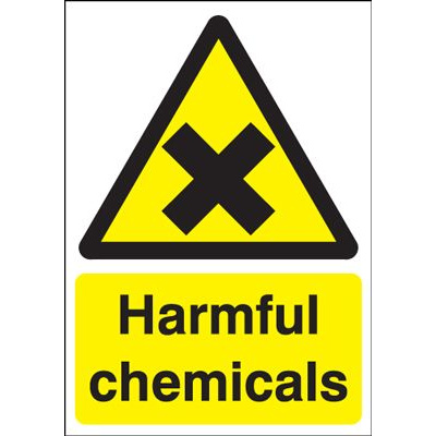 Harmful Chemicals Safety Sign - Portrait