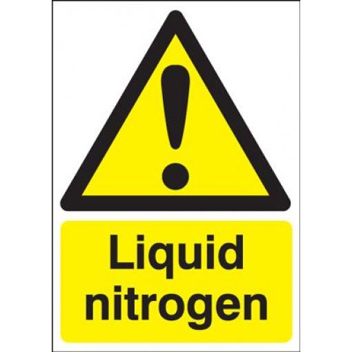 Liquid Nitrogen Hazard Safety Sign - Portrait