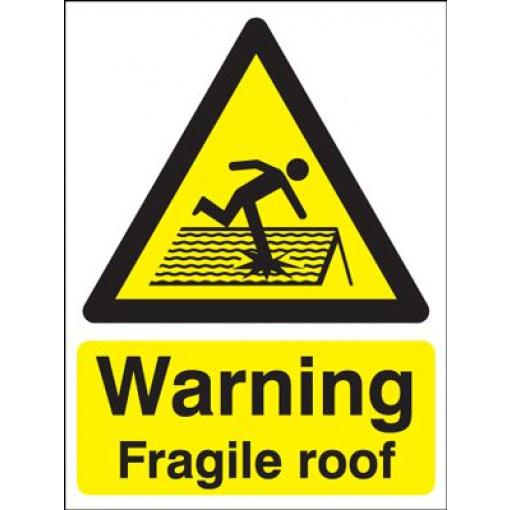 Warning Fragile Roof Safety Sign