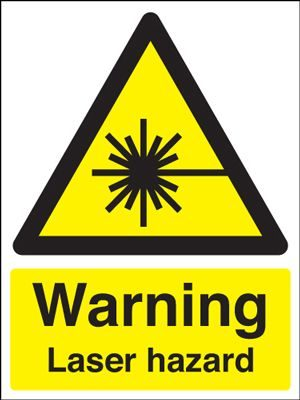 Warning Laser Hazard Safety Sign - Portrait
