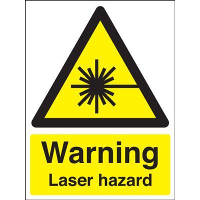Warning Laser Hazard Safety Sign - Portrait