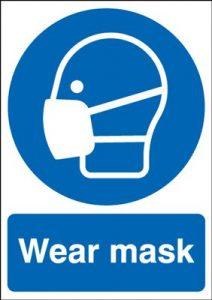 Wear Mask Mandatory Safety Sign - Portrait