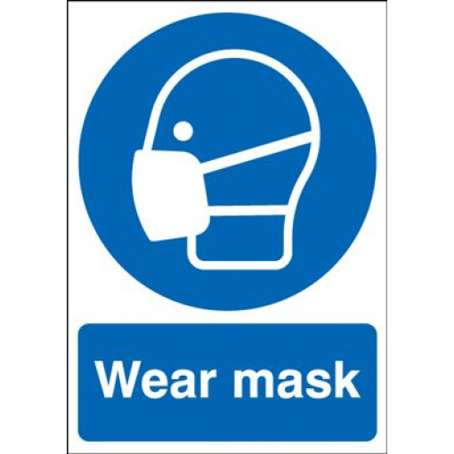 Wear Mask Mandatory Safety Sign - Portrait