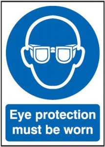 Eye Protection Must Be Worn Mandatory Safety Sign