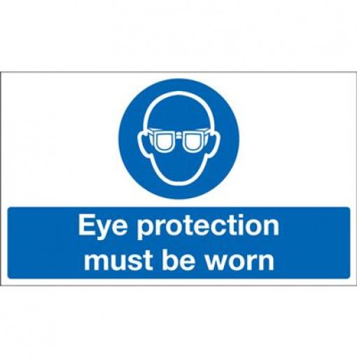 Eye Protection Must Be Worn Mandatory Safety Sign - Landscape