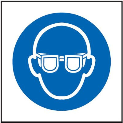 Eye Protection Symbol Mandatory Safety Sign