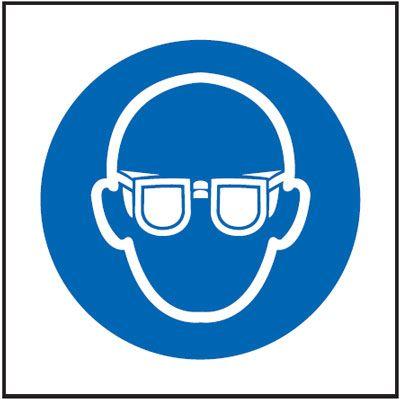 Eye Protection Symbol Mandatory Safety Sign