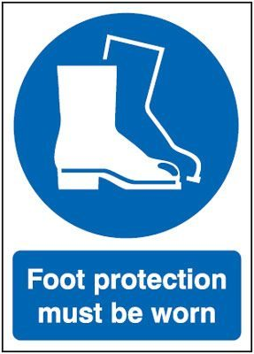 Foot Protection Must Be Worn Mandatory Safety Sign