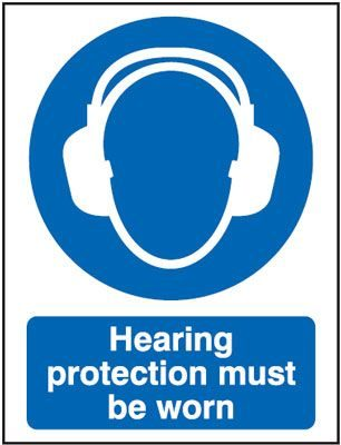 Hearing Protection Must Be Worn Mandatory Safety Sign