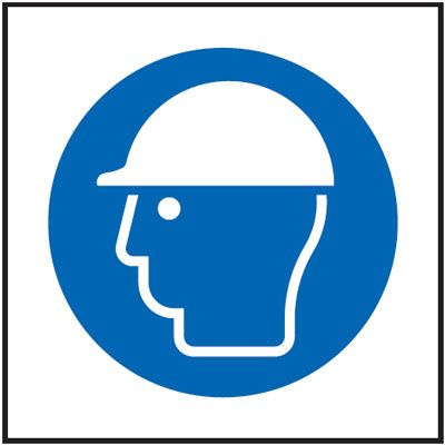 Helmet Symbol Mandatory Safety Sign