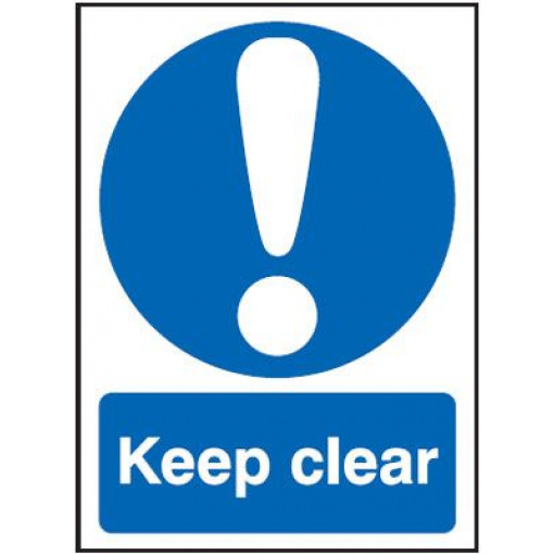 Keep Clear Mandatory Safety Sign