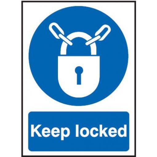 Keep Locked Mandatory Safety Sign - Portrait