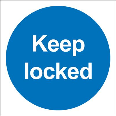 Keep Locked Mandatory Safety Sign - Square